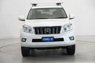 2012 Toyota Landcruiser Prado GRJ150R Altitude White 5 Speed Sports Automatic Wagon.