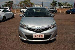 2013 Toyota Yaris NCP130R YR Silver Pearl 5 Speed Manual Hatchback.