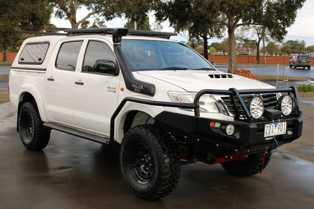 Used Toyota Hilux KUN26R MY12 SR (4x4) West Footscray, 2012 Toyota Hilux KUN26R MY12 SR (4x4) White 4 Speed Automatic Dual Cab Pick-up