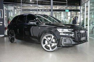 2020 Audi Q7 4M MY21 50 TDI Tiptronic Quattro S Line Black 8 Speed Sports Automatic Wagon.