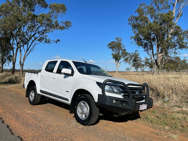 Pre-Owned Holden Colorado RG MY17 LS (4x4) Oakey, 2017 Holden Colorado RG MY17 LS (4x4) White 6 Speed Automatic Crew Cab Pickup