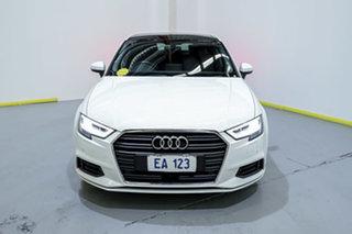 2018 Audi A3 8V MY18 S Tronic White 7 Speed Sports Automatic Dual Clutch Sedan.