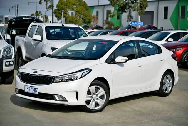 Used Kia Cerato YD MY18 S Pakenham, 2017 Kia Cerato YD MY18 S White 6 Speed Sports Automatic Sedan