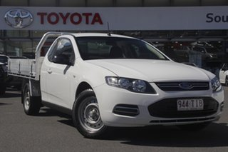 2011 Ford Falcon FG Super Cab White 6 Speed Sports Automatic Cab Chassis.