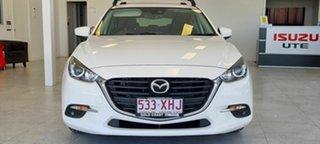 2017 Mazda 3 White Hatchback