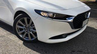 2021 Mazda 3 BP2S7A G20 SKYACTIV-Drive Touring White Pearl 6 Speed Sports Automatic Sedan.