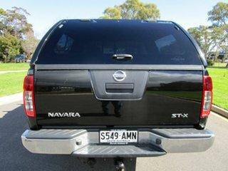 2011 Nissan Navara D40 Series 4 ST-X (4x4) Black 5 Speed Automatic Dual Cab Pick-up