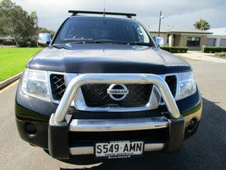 2011 Nissan Navara D40 Series 4 ST-X (4x4) Black 5 Speed Automatic Dual Cab Pick-up.
