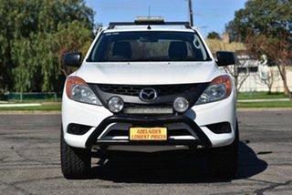 2014 Mazda BT-50 UP0YF1 XT Freestyle 4x2 Hi-Rider White 6 Speed Manual Cab Chassis.