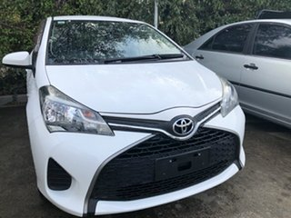 2015 Toyota Yaris NCP130R Ascent Glacier White 4 Speed Automatic Hatchback.