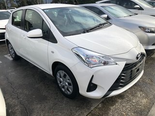 2019 Toyota Yaris NCP130R Ascent Glacier White 4 Speed Automatic Hatchback.