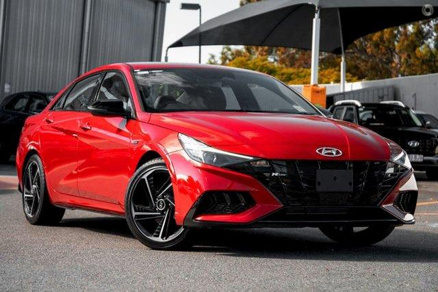 New Hyundai i30 CN7.V1 MY21 N Line D-CT Oakleigh, 2021 Hyundai i30 CN7.V1 MY21 N Line D-CT Red 7 Speed Sports Automatic Dual Clutch Sedan