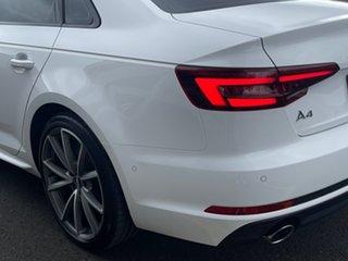 2017 Audi A4 B9 8W MY18 S Line S Tronic Quattro White 7 Speed Sports Automatic Dual Clutch Sedan