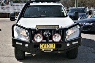 2015 Toyota Landcruiser Prado GRJ150R MY14 GXL White 5 Speed Sports Automatic Wagon.