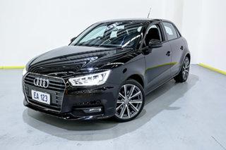 2015 Audi A1 8X MY15 Sport Sportback S Tronic Black/Grey 7 Speed Sports Automatic Dual Clutch.
