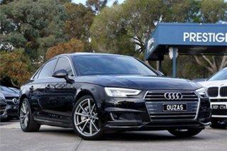 2017 Audi A4 B9 8W MY18 S Line S Tronic Quattro Black 7 Speed Sports Automatic Dual Clutch Sedan.