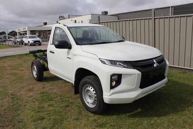 New Mitsubishi Triton MR MY21 GLX 4x2 Echuca, 2021 Mitsubishi Triton MR MY21 GLX 4x2 White 6 Speed Manual Cab Chassis
