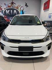2021 Kia Rio YB MY22 GT-Line DCT Clear White 7 Speed Sports Automatic Dual Clutch Hatchback.