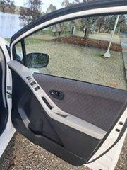 2010 Toyota Yaris NCP90R MY10 YR White 5 Speed Manual Hatchback