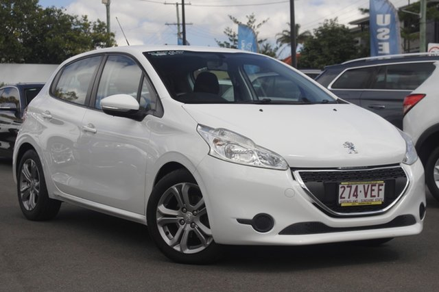 Used Peugeot 208 A9 MY14 Allure Mount Gravatt, 2014 Peugeot 208 A9 MY14 Allure White 4 Speed Automatic Hatchback