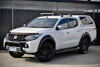 2017 Mitsubishi Triton MQ MY17 GLS Double Cab Sports Edition White 5 Speed Sports Automatic Utility.