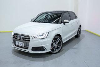 2017 Audi S1 8X MY18 Sportback Quattro White 6 Speed Manual Hatchback.