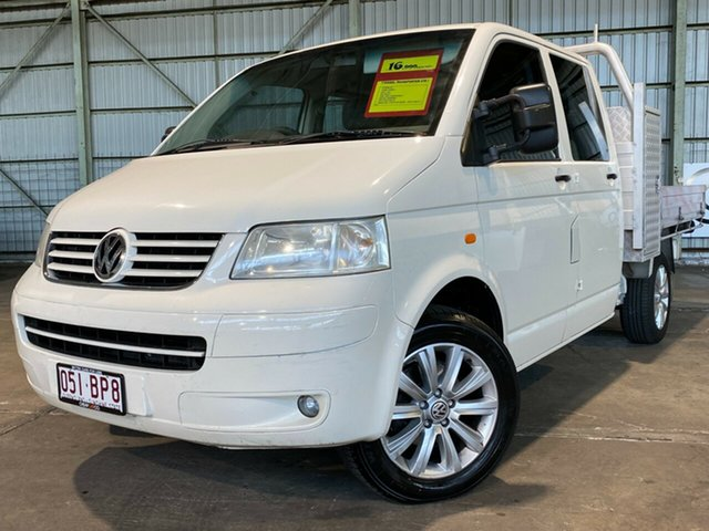 Used Volkswagen Transporter T5 MY07 Rocklea, 2007 Volkswagen Transporter T5 MY07 White 6 Speed Sports Automatic Cab Chassis