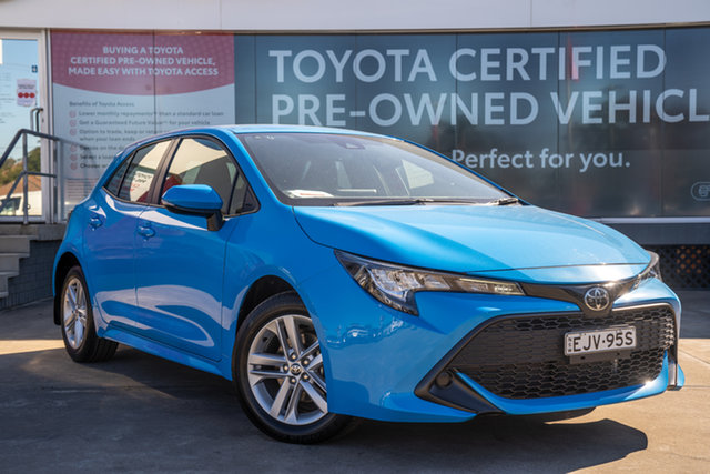 Pre-Owned Toyota Corolla Mzea12R Ascent Sport Guildford, 2020 Toyota Corolla Mzea12R Ascent Sport Eclectic Blue 10 Speed Constant Variable Hatchback
