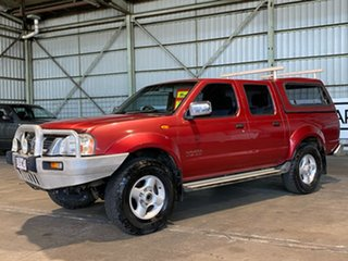 2006 Nissan Navara D22 S2 ST-R Red 5 Speed Manual Utility.