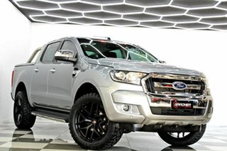 2016 Ford Ranger PX MkII XLT 3.2 Hi-Rider (4x2) Grey 6 Speed Automatic Crew Cab Pickup.