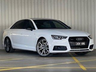 2017 Audi A4 B9 8W MY18 S Line S Tronic Quattro White 7 Speed Sports Automatic Dual Clutch Sedan.