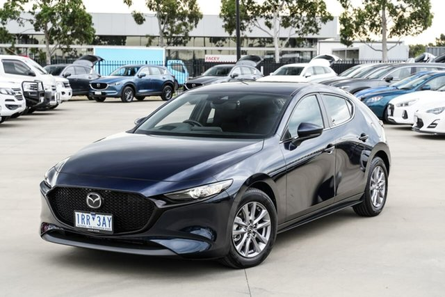 Used Mazda 3 BP2H7A G20 SKYACTIV-Drive Pure Pakenham, 2020 Mazda 3 BP2H7A G20 SKYACTIV-Drive Pure Blue 6 Speed Sports Automatic Hatchback