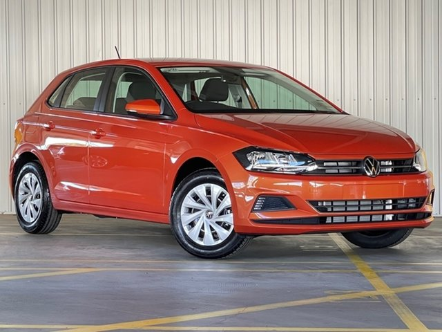 New Volkswagen Polo AW MY21 70TSI DSG Trendline Moorabbin, 2021 Volkswagen Polo AW MY21 70TSI DSG Trendline Orange 7 Speed Sports Automatic Dual Clutch