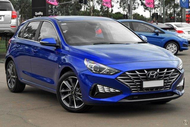 New Hyundai i30 PD.V4 MY21 Active Nunawading, 2021 Hyundai i30 PD.V4 MY21 Active Blue 6 Speed Sports Automatic Hatchback