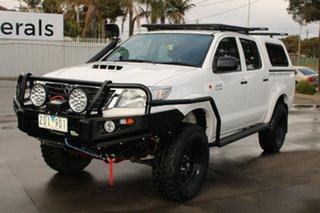 2012 Toyota Hilux KUN26R MY12 SR (4x4) White 4 Speed Automatic Dual Cab Pick-up.