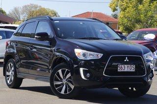 2014 Mitsubishi ASX XB MY15 LS 2WD Black 6 Speed Constant Variable Wagon.