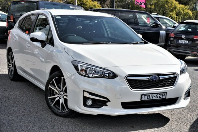 Used Subaru Impreza G5 MY18 2.0i-L CVT AWD Phillip, 2018 Subaru Impreza G5 MY18 2.0i-L CVT AWD White 7 Speed Constant Variable Hatchback