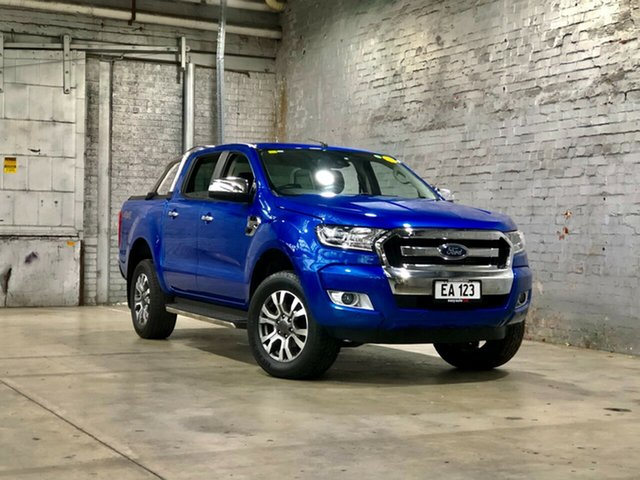 Used Ford Ranger PX MkII 2018.00MY XLT Double Cab Mile End South, 2018 Ford Ranger PX MkII 2018.00MY XLT Double Cab Blue 6 Speed Sports Automatic Utility