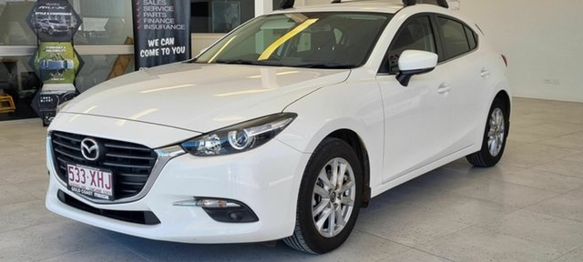 Used Mazda 3 Beaudesert, 2017 Mazda 3 White Hatchback