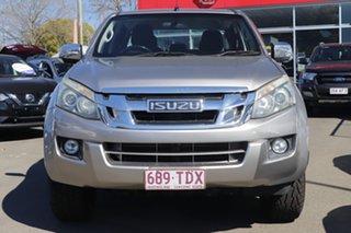 2013 Isuzu D-MAX MY12 LS-U Crew Cab Beige 5 Speed Sports Automatic Utility.