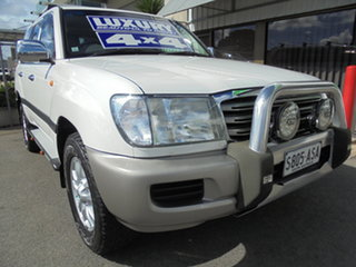 2004 Toyota Landcruiser UZJ100R Kakadu White 5 Speed Automatic Wagon.