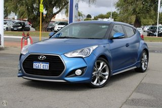 2015 Hyundai Veloster FS4 Series II SR Coupe D-CT Turbo Blue 7 Speed Sports Automatic Dual Clutch.