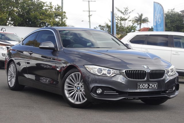 Used BMW 4 Series F32 420i Luxury Line Mount Gravatt, 2014 BMW 4 Series F32 420i Luxury Line Grey 8 Speed Sports Automatic Coupe
