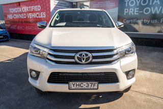 2017 Toyota Hilux GUN126R SR5 Double Cab Crystal Pearl 6 Speed Sports Automatic Utility