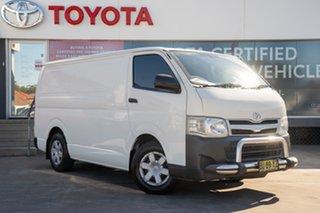 2013 Toyota HiAce TRH201R MY12 LWB French Vanilla 4 Speed Automatic Van.