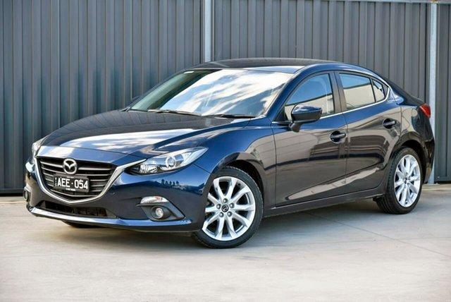 Used Mazda 3 BM5238 SP25 SKYACTIV-Drive Pakenham, 2015 Mazda 3 BM5238 SP25 SKYACTIV-Drive Blue 6 Speed Sports Automatic Sedan
