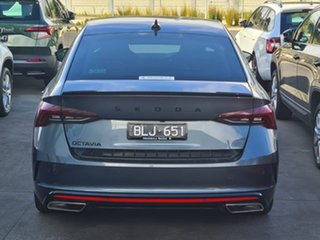 2021 Skoda Octavia NX MY21 RS Sedan DSG Grey 7 Speed Sports Automatic Dual Clutch Liftback.