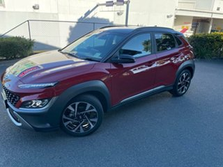 2021 Hyundai Kona Os.v4 MY21 Highlander 2WD Pulse Red Black Roof 8 Speed Constant Variable Wagon.
