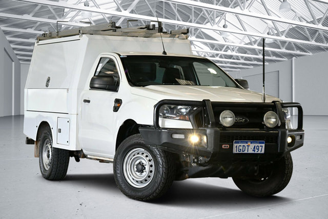 Used Ford Ranger PX MkII XL Perth Airport, 2016 Ford Ranger PX MkII XL Cool White 6 Speed Sports Automatic Cab Chassis
