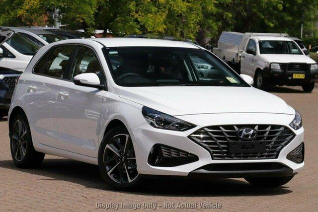 New Hyundai i30 PD.V4 MY21 Active Castle Hill, 2021 Hyundai i30 PD.V4 MY21 Active Polar White 6 Speed Sports Automatic Hatchback